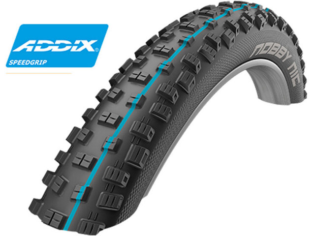 "SCHWALBE Nobby Nic Folding Tyre 29"" Addix Performance DD SnakeSkin, black"